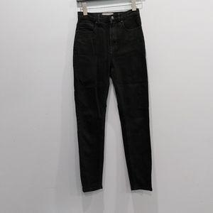 Everlane Black Hi Rise Denim Jeans Size 25